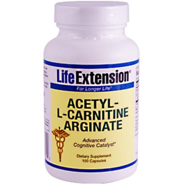 Life Extension, Acetyl-L-Carnitine-Arginate, 100 Capsules (Discontinued Item)
