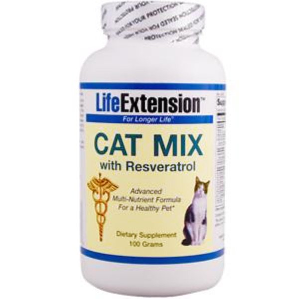 Life Extension, Cat Mix with Resveratol, 100 g (Discontinued Item)
