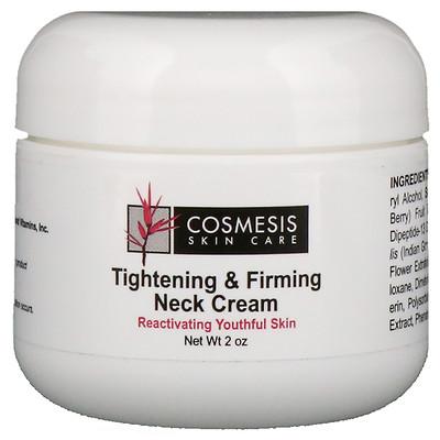 Косметический уход за кожей, подтягивающий и укрепляющий крем для шеи, 2 унции