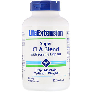 Life Extension, Super CLA Blend with Sesame Lignans, 120 Softgels