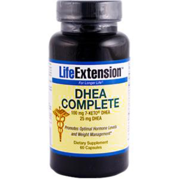 Life Extension, DHEA Complete, 100 mg 7-Keto DHEA, 25 mg DHEA, 60 Capsules (Discontinued Item)