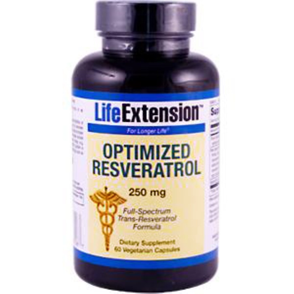 Life Extension, Optimized Resveratrol, 250 mg, 60 Veggie Caps (Discontinued Item)