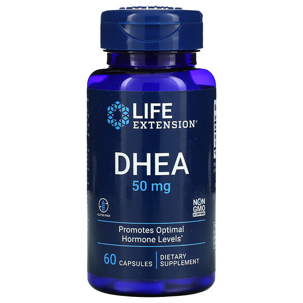 Life Extension, DHEA, 50 mg, 60 cápsulas