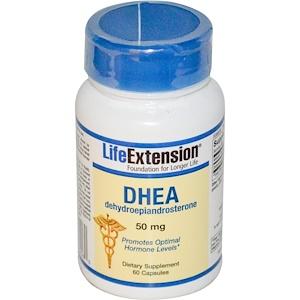 Life Extension, ДЭА (дегидроэпиандростерон ) 50 мг, 60 капсул инструкция, применение, состав, противопоказания