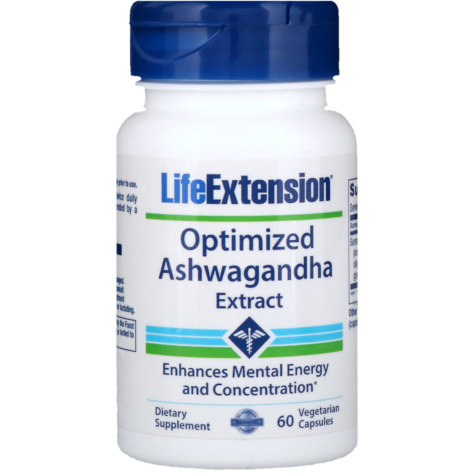 Life Extension, Optimized Ashwagandha Extract, 60 Vegetarian