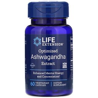 Life Extension, Optimized Ashwagandha Extract, 60 Vegetarian Capsules