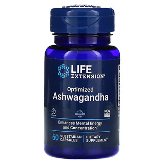 Life Extension, Optimized Ashwagandha, 60 Vegetarian Capsules