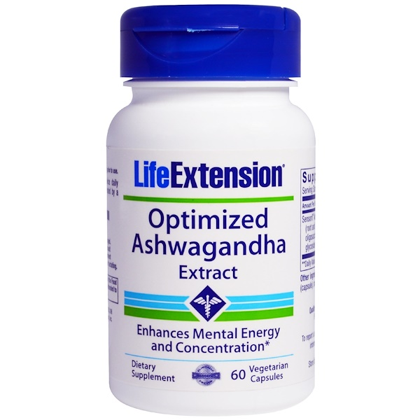 Life Extension, Optimized Ashwagandha Extract, 60 Veggie Caps