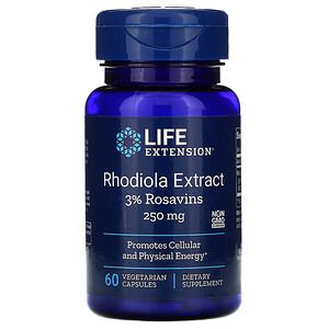 Лайф Экстэншн, Rhodiola Extract, 250 mg, 60 Vegetarian Capsules отзывы