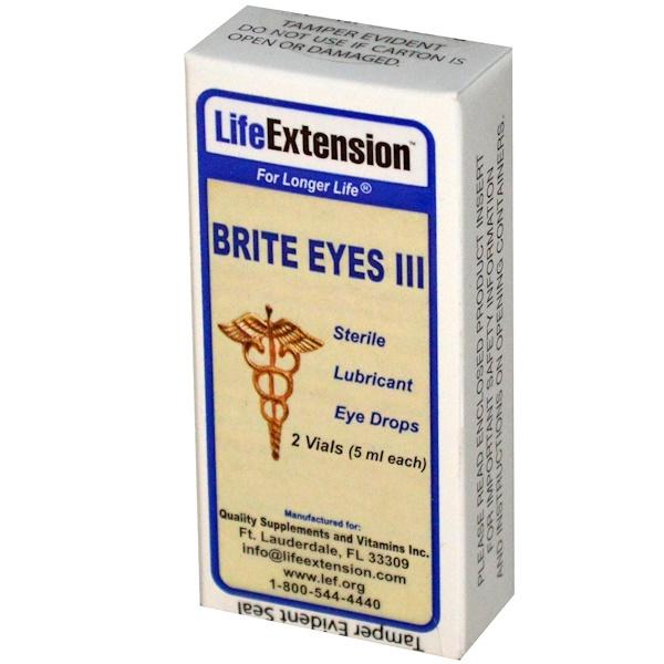 Life Extension, Brite Eyes III,  2 Vials (5 ml each)