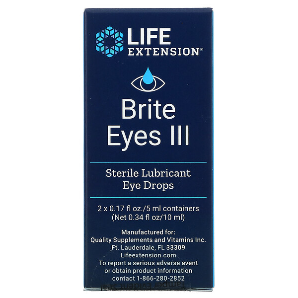 Brite Eyes III, 2 Vials, 0.17 fl oz. (5 ml) Each