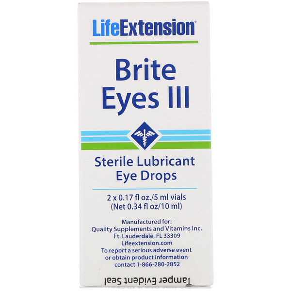 Life Extension, Brite Eyes III, 2 Vials, 5 ml Each