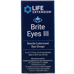Лайф Экстэншн, Brite Eyes III, 2 Vials, 0.17 fl oz. (5 ml) Each отзывы покупателей