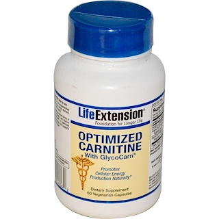 Life Extension, Optimized Carnitine, With GlycoCarn, 60 Veggie Caps