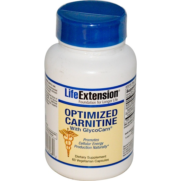Life Extension, Optimized Carnitine, With GlycoCarn, 60 Veggie Caps (Discontinued Item)