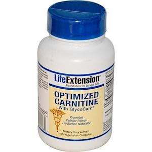 Лайф Экстэншн, Optimized Carnitine, With GlycoCarn, 60 Veggie Caps отзывы