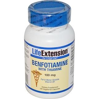 Life Extension, Benfotiamine, con tiamina, 100 mg, 120 cápsulas vegetarianas