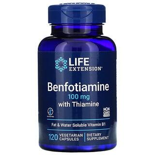 Life Extension, 티아민 함유 벤포티아민, 100mg, 베지 캡슐 120정