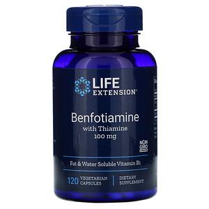 Лайф Экстэншн, Benfotiamine with Thiamine, 100 mg, 120 Vegetable Capsules отзывы
