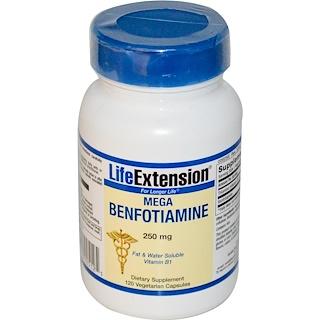 Life Extension, Мега-бенфотиамин, 250 мг, 120 капсул на растительной основе