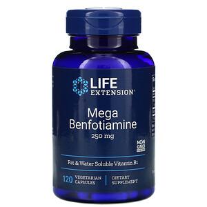 Лайф Экстэншн, Mega Benfotiamine, 250 mg, 120 Vegetarian Capsules отзывы покупателей