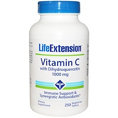 Life Extension, Vitamin C, with Dihydroquercetin, 1000 mg, 250 Veggie Tablets