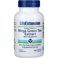 Мега экстракт зеленого чая, небольшое содержание кофеина, 100 растительных капсул - фото