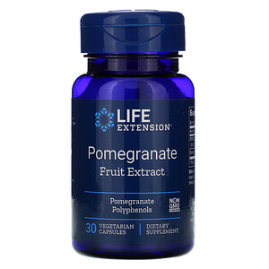 Лайф Экстэншн, Pomegranate Fruit Extract, 30 Vegetarian Capsules отзывы покупателей
