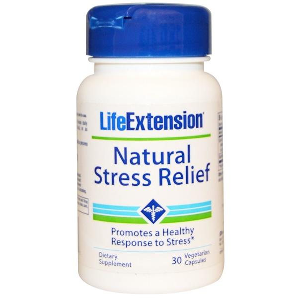 Life Extension, Natural Stress Relief, 30 Veggie Caps
