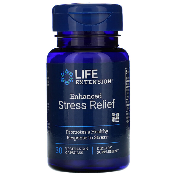 Enhanced Stress Relief، عدد 30 كبسولة نباتية