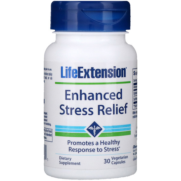 Life Extension, Enhanced Stress Relief, 30 cápsulas vegetarianas