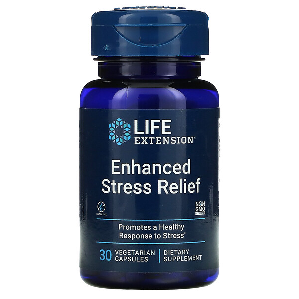Enhanced Stress Relief, 30 Vegetarian Capsules
