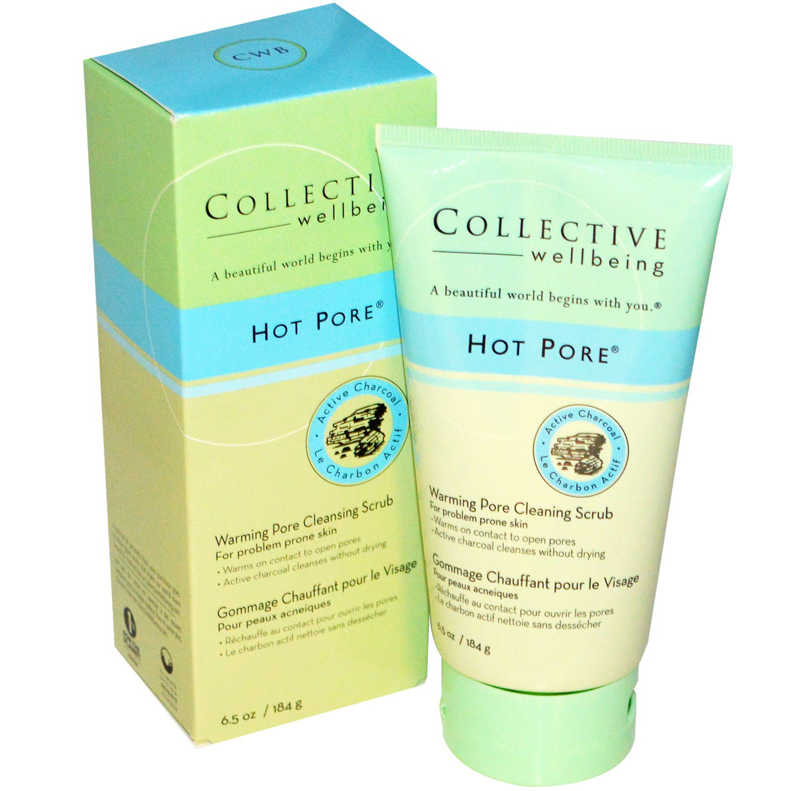 Charcoal Face Mask - 9 oz. by Collective Wellbeing (pack of 1) ren glycolactic skin renewal peel mask 50ml