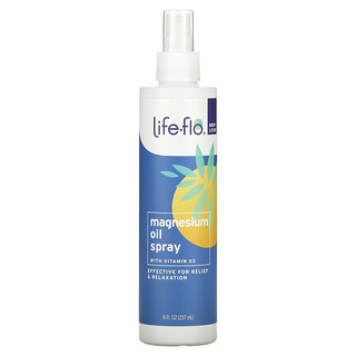 Life-flo, Magnesium Oil Spray, With Vitamin D3, 8 fl oz (237 ml)