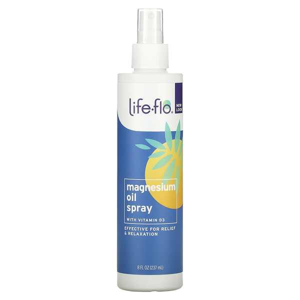 Magnesium Oil Spray, With Vitamin D3, 8 fl oz (237 ml)
