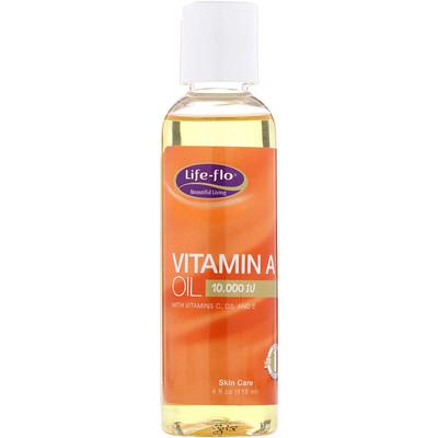 Купить Life-flo Масло витамина А, 10000 МЕ, 4 жидких унции (118 мл)