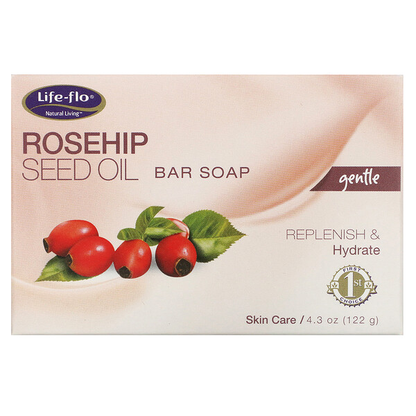 Life-flo, Rosehip Seed Oil Bar Soap, 4.3 oz (122 g)