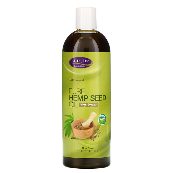 Pure Hemp Seed Oil, 16 fl oz (473 ml)