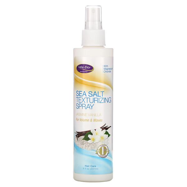 Life-flo, Spray au texture de sel de mer, Jasmin & vanille, 237 ml (8 oz liq.) (Discontinued Item)
