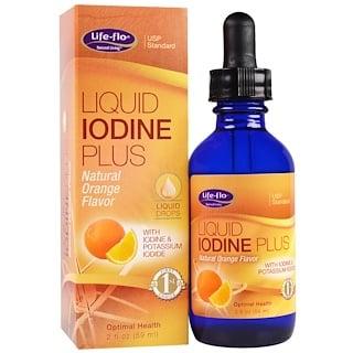 Life-flo, 液体ヨウ素プラス液滴ドロップ、ナチュラルオレンジ風味、2 液体オンス(59 ml)