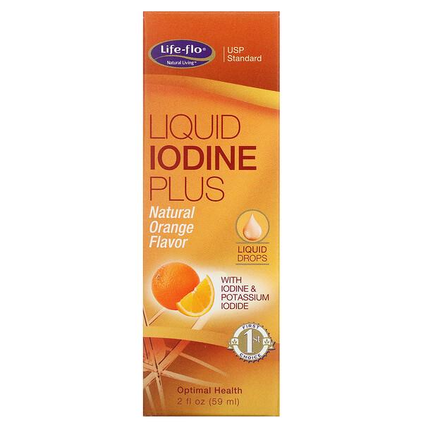 Liquid Iodine Plus, Natural Orange Flavor, 2 fl oz (59 ml)