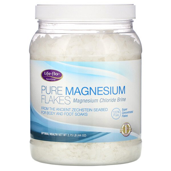 Life-flo, ピュア・マグネシウム・フレーク, 塩化マグネシウムブライン, 2.75ポンド (44オンス)