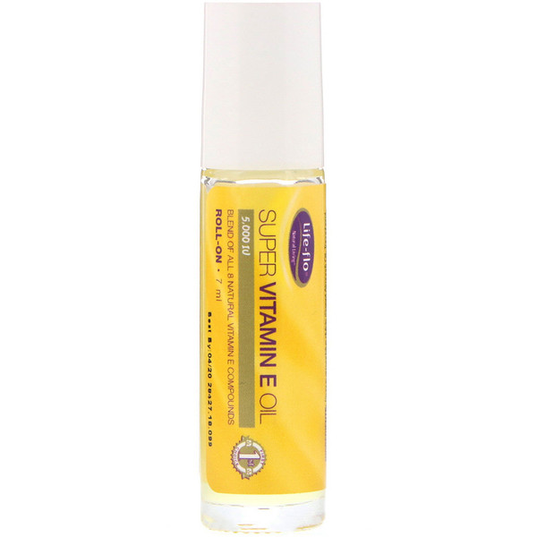 Life-flo, Super Vitamin E Oil, Roll-On, 5,000 IU, 7 ml (Discontinued Item)