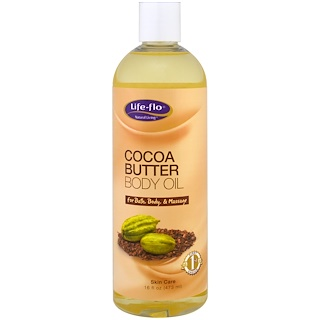 Life-flo, Cocoa Butter Body Oil, 16 fl oz (473 ml)
