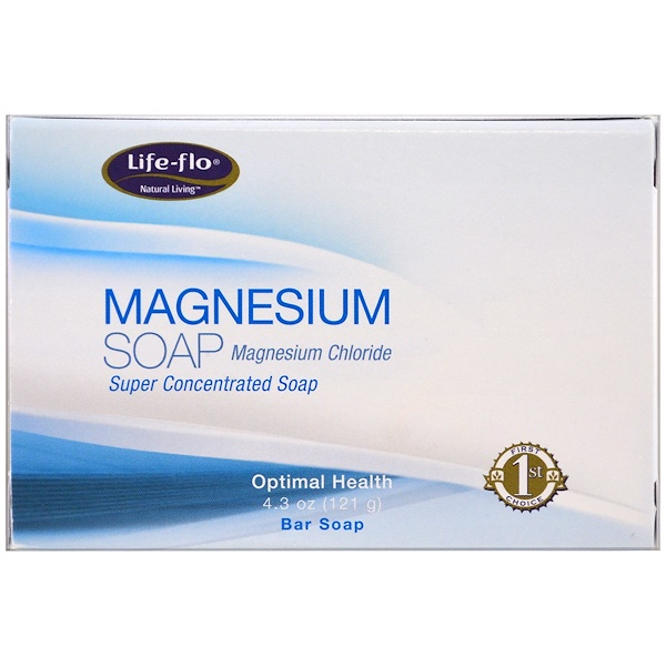 Life-flo, Magnesium Soap, Magnesium Chloride, Super Concentrated Bar Soap, 4.3 oz (121 g)