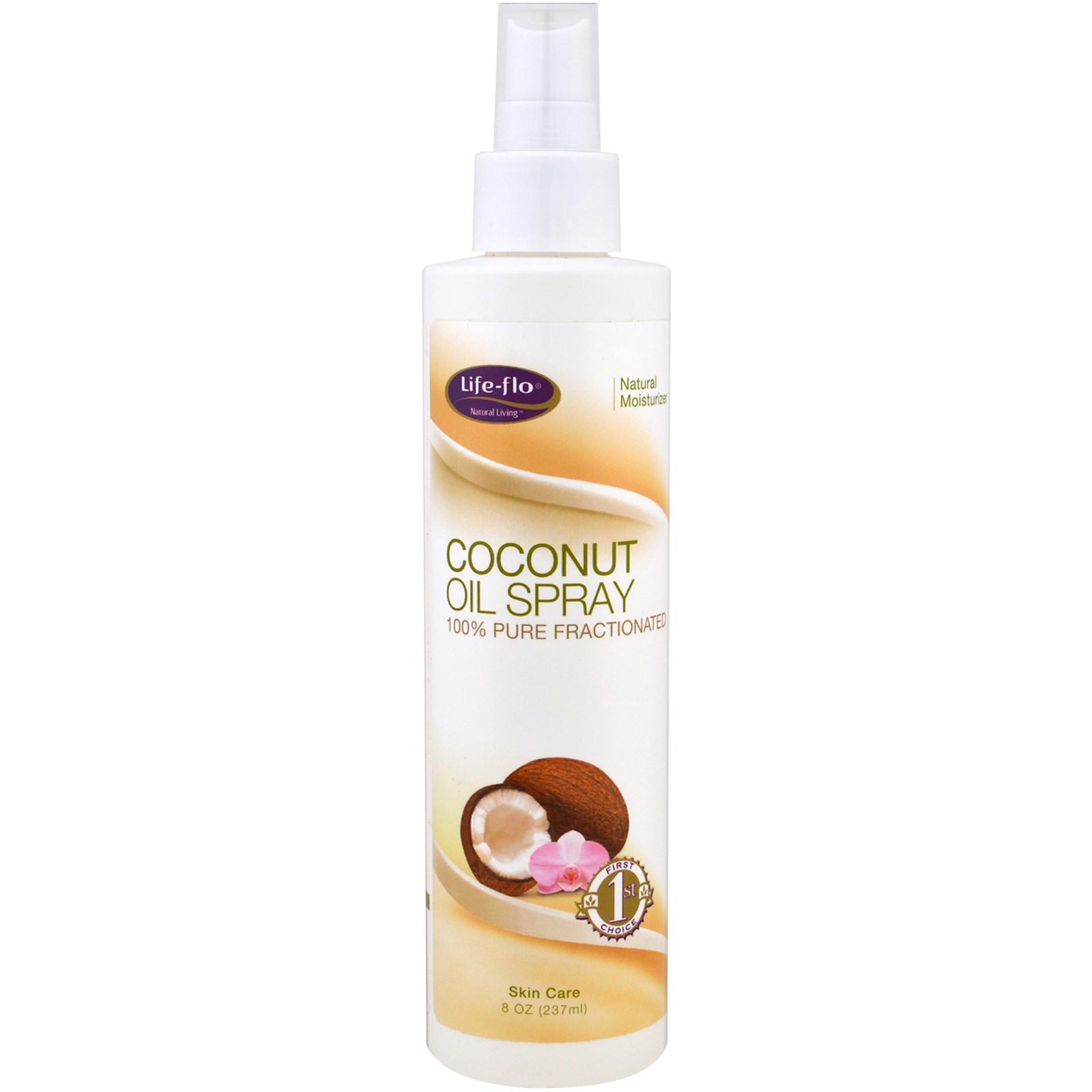 Life Flo Health, Coconut Oil Spray, 100% Pure Fractionated, 8 oz (237 ml)