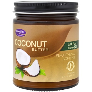 Life-flo, ココナッツバター、ピュアココナッツオイル、9 fl oz (266 ml)