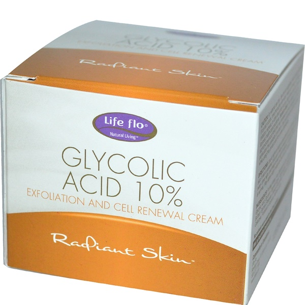 Life-flo, Glycolic Acid 10%, Exfoliation and Cell Renewal Cream, 1.7 oz (48 g) (Discontinued Item)