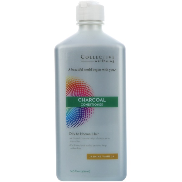 Life Flo Health, 炭護髮素,油性至中性髮質,茉莉香草,14、5液量盎司(429毫升)