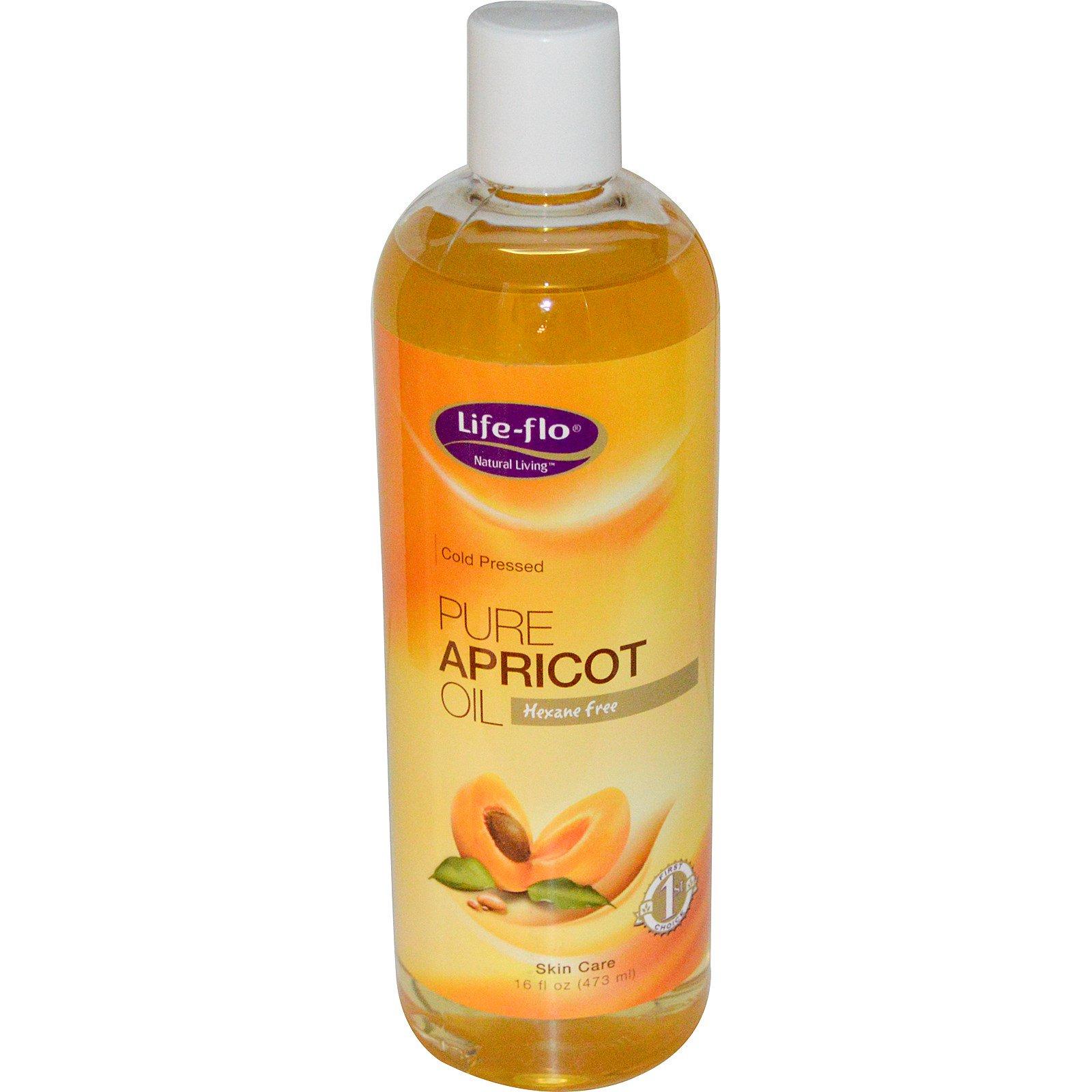 Life Flo Health, Чистое абрикосовое масло для ухода за кожей, 473 мл